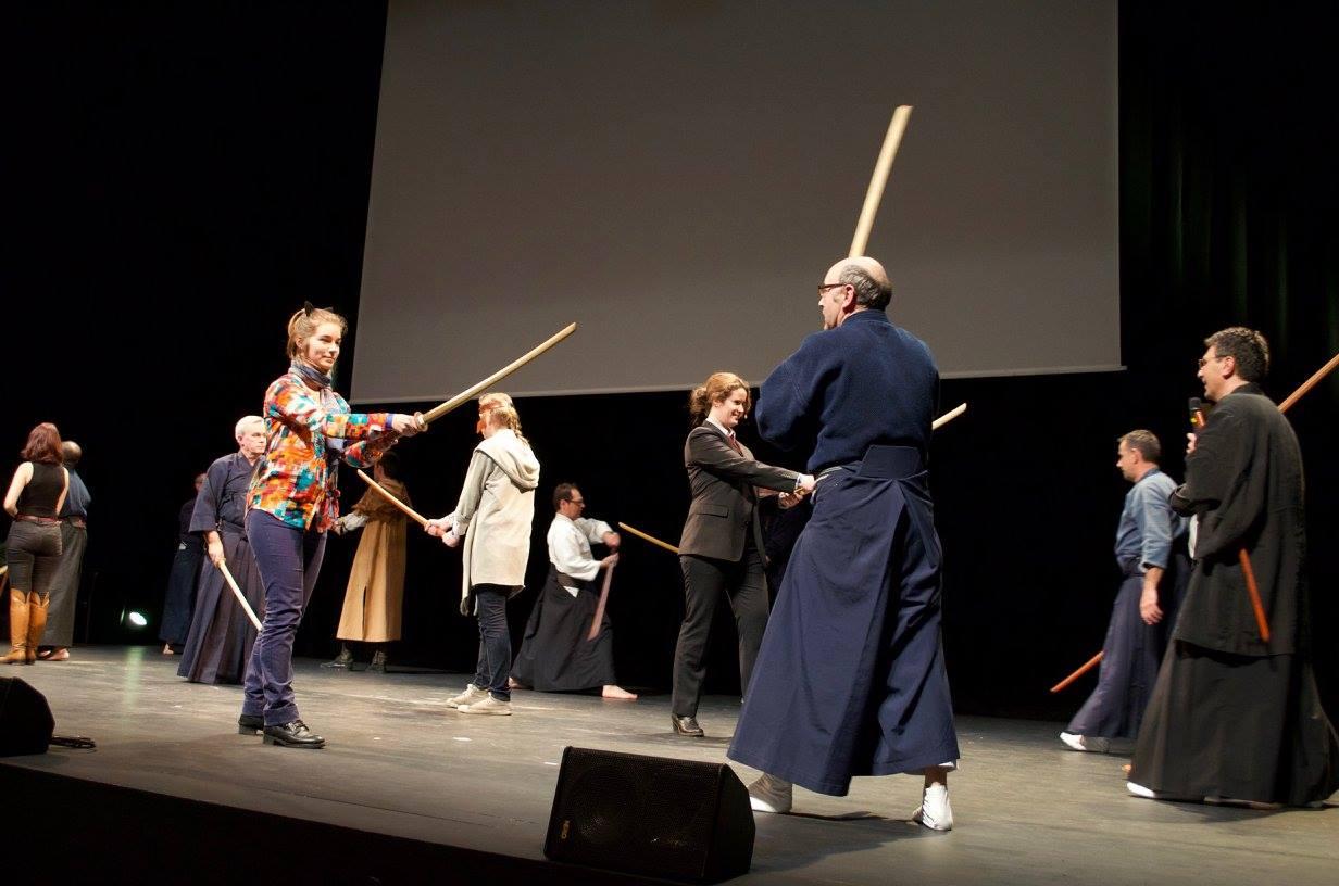 Démonstration CODAM Iaïdo Japanantes 2017 kenjutsu