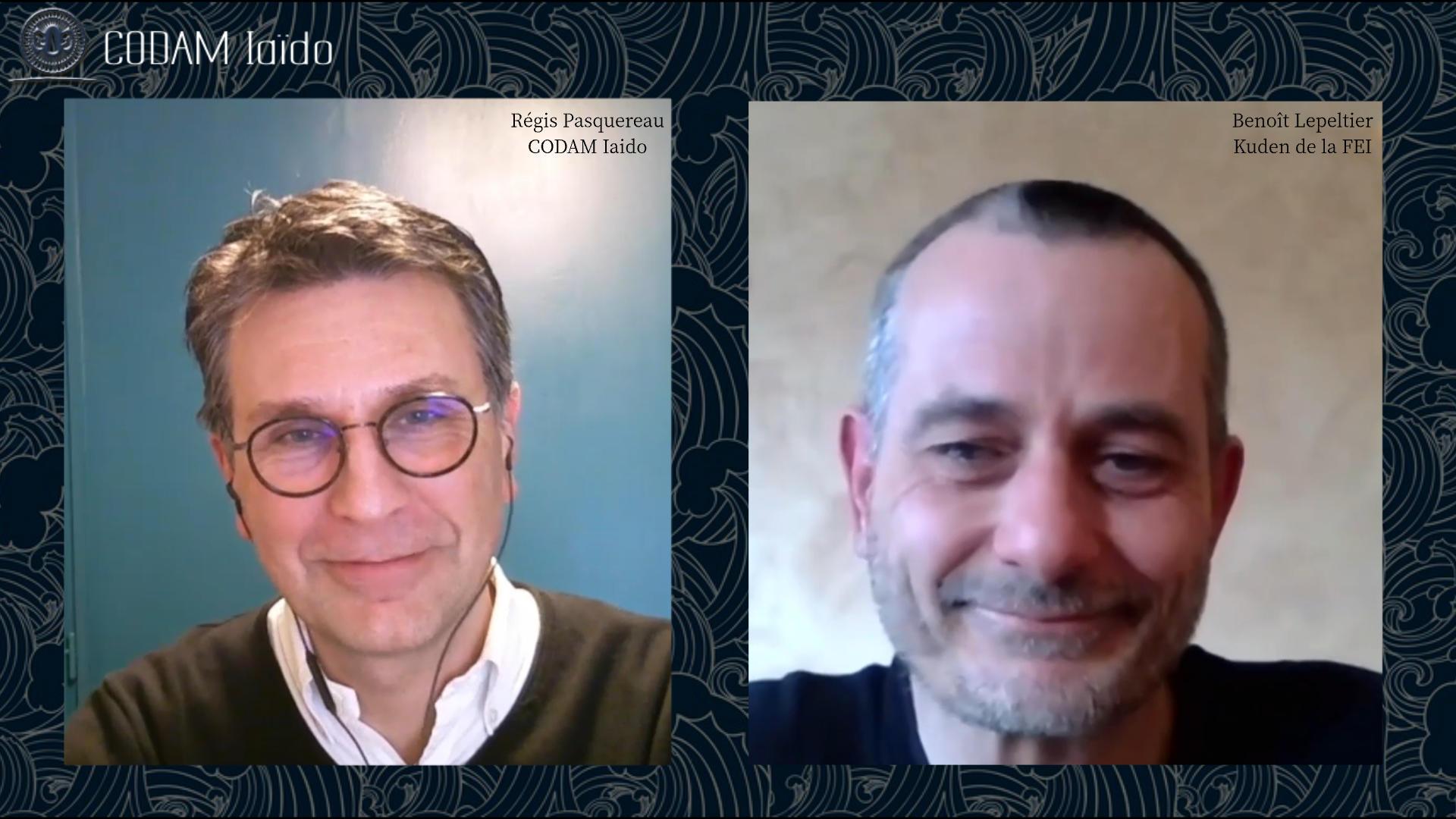 Entretien CODAM Iaido avec Benoit Lepeltier